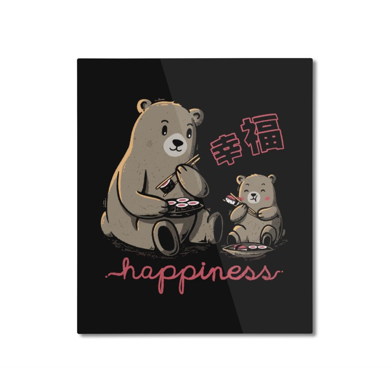 Happiness Sushi Home Mounted Aluminum Print by Tobe Fonseca's Artist Shop