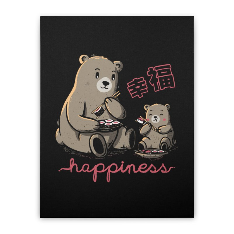 Happiness Sushi Home Stretched Canvas by Tobe Fonseca's Artist Shop