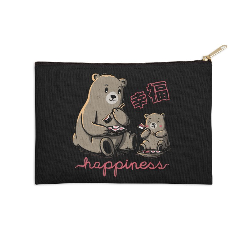 Happiness Sushi Accessories Zip Pouch by Tobe Fonseca's Artist Shop