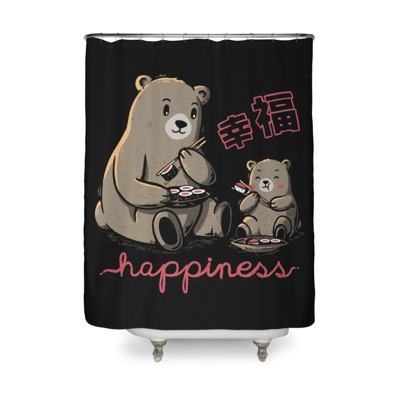Happiness Sushi Home Shower Curtain by Tobe Fonseca's Artist Shop