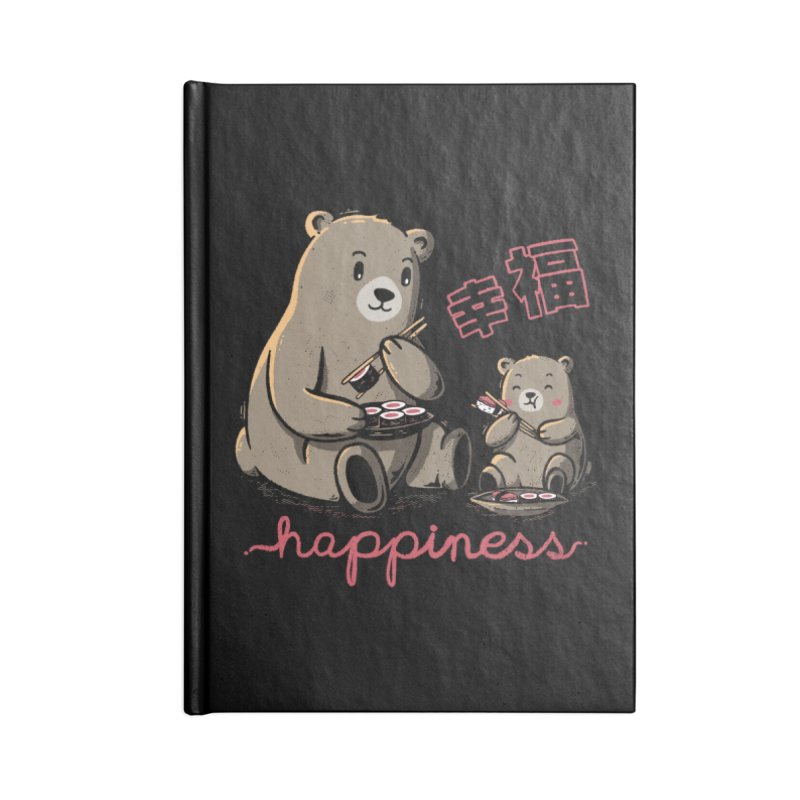 Happiness Sushi Accessories Notebook by Tobe Fonseca's Artist Shop