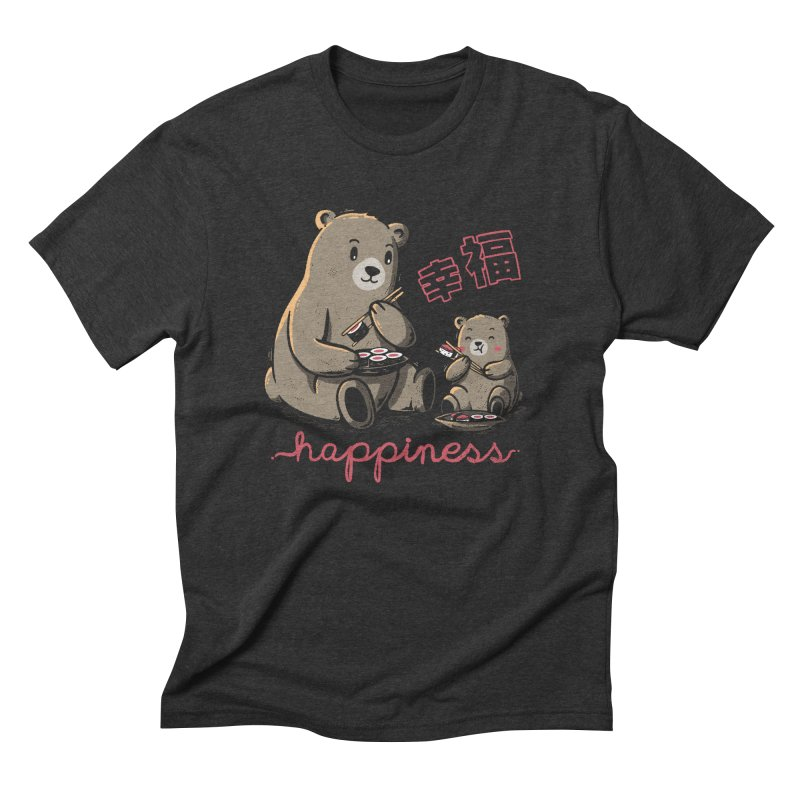 Happiness Sushi Men's Triblend T-Shirt by Tobe Fonseca's Artist Shop