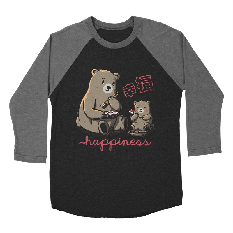 Happiness Sushi Women's Baseball Triblend T-Shirt by Tobe Fonseca's Artist Shop
