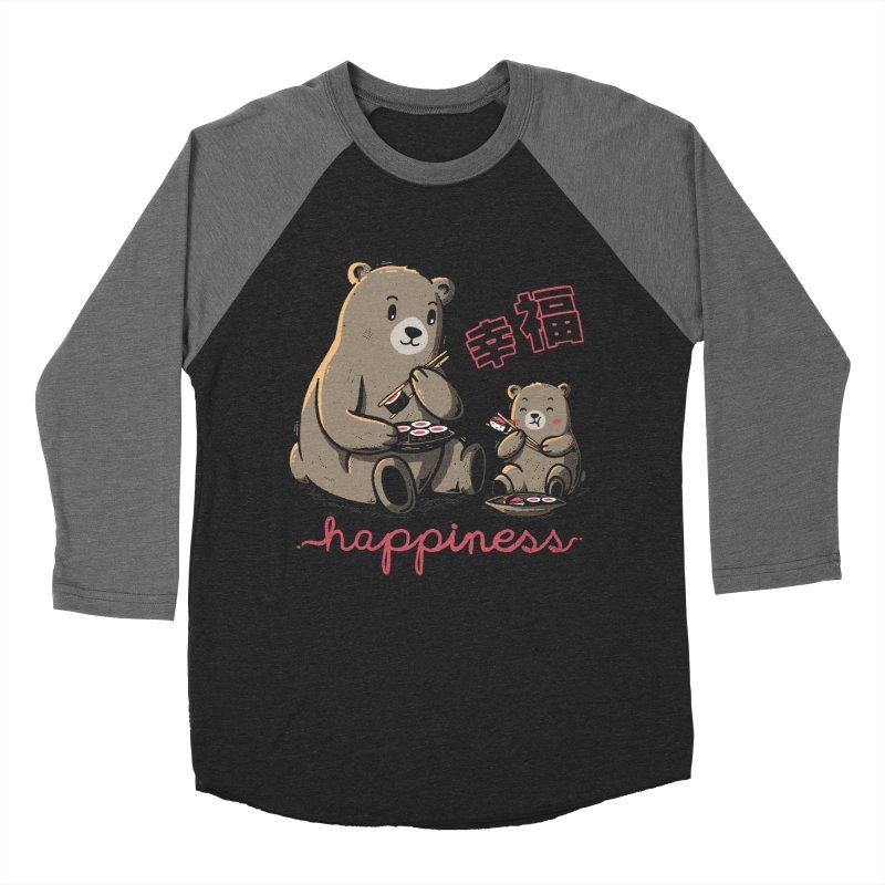Happiness Sushi Men's Baseball Triblend T-Shirt by Tobe Fonseca's Artist Shop