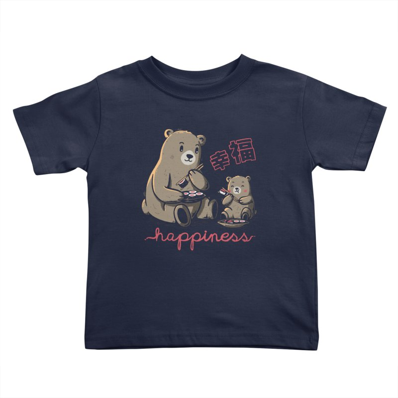 Happiness Sushi Kids Toddler T-Shirt by Tobe Fonseca's Artist Shop