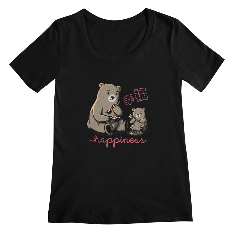 Happiness Sushi Women's Scoopneck by Tobe Fonseca's Artist Shop