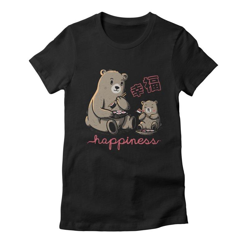 Happiness Sushi Women's Fitted T-Shirt by Tobe Fonseca's Artist Shop