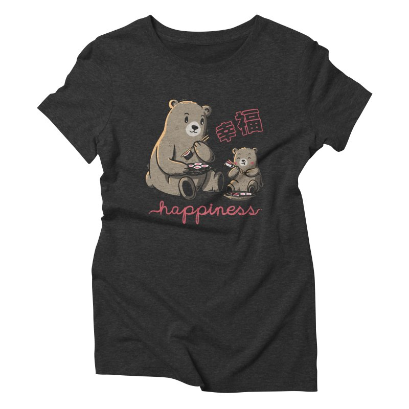 Happiness Sushi Women's Triblend T-Shirt by Tobe Fonseca's Artist Shop