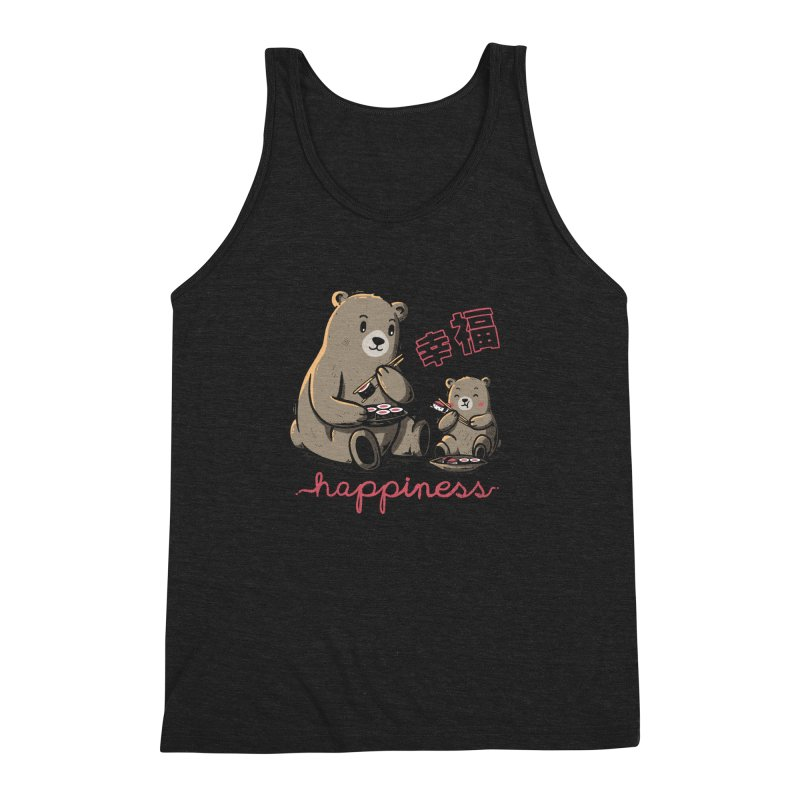 Happiness Sushi Men's Triblend Tank by Tobe Fonseca's Artist Shop