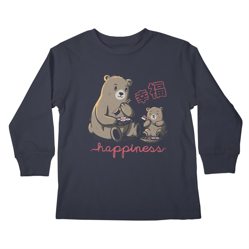 Happiness Sushi Kids Longsleeve T-Shirt by Tobe Fonseca's Artist Shop
