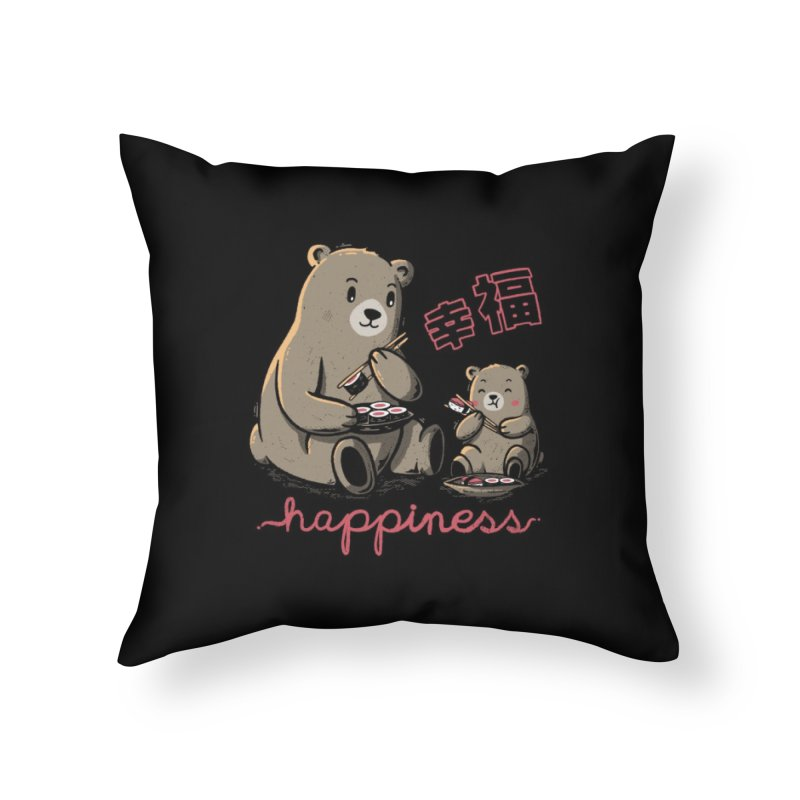 Happiness Sushi Home Throw Pillow by Tobe Fonseca's Artist Shop