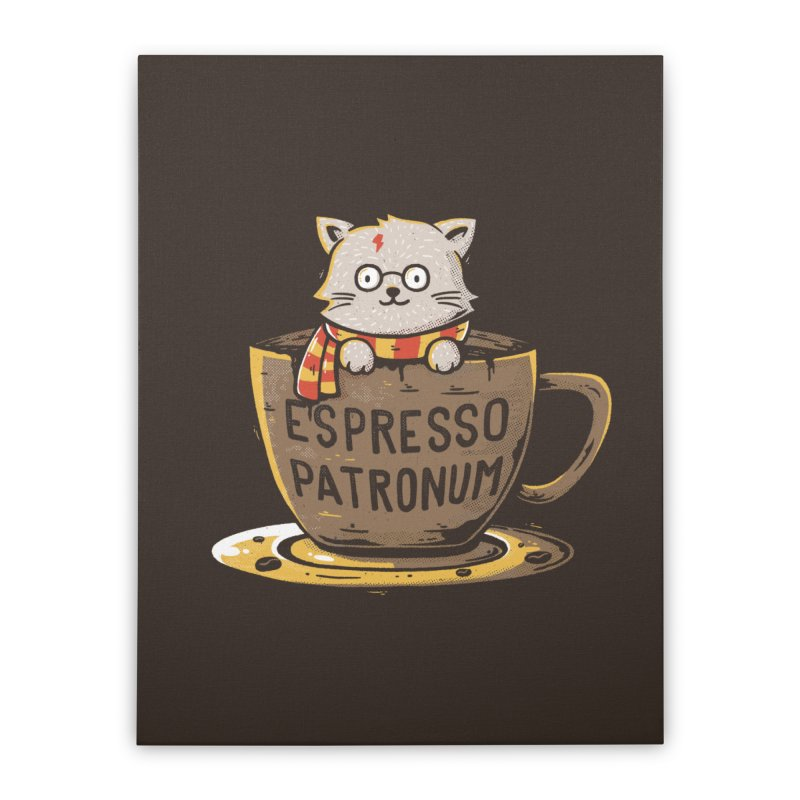 Espresso Patronum Home Stretched Canvas by Tobe Fonseca's Artist Shop