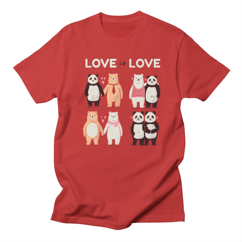 Love is Love in Men's Regular T-Shirt Red by Tobe Fonseca's Artist Shop