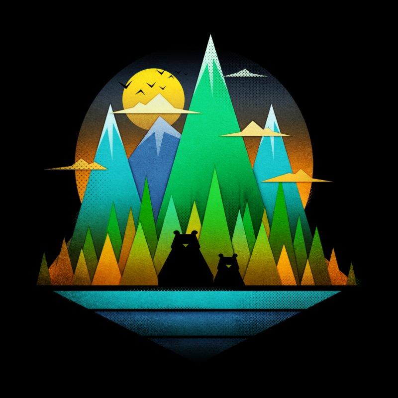 Geometric Landscape Bears Kids Baby Zip-Up Hoody by Tobe Fonseca's Artist Shop
