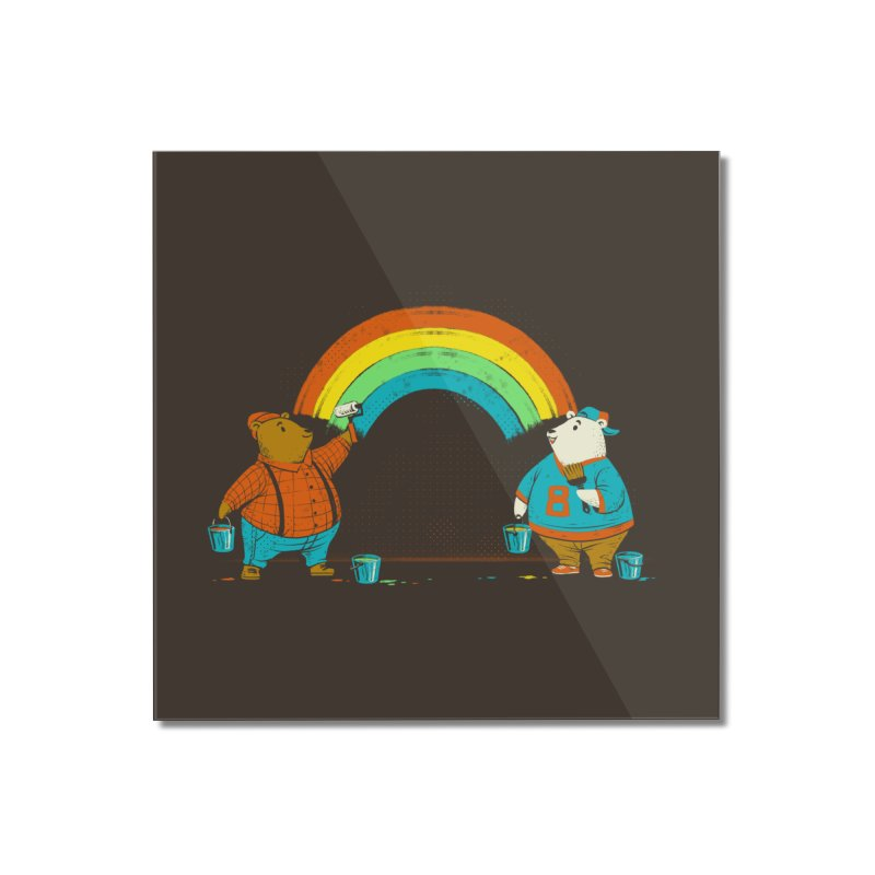 Love is Love Rainbow Bear Home Mounted Acrylic Print by Tobe Fonseca's Artist Shop