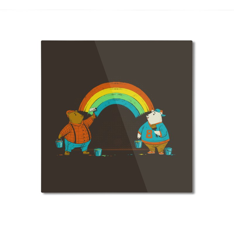 Love is Love Rainbow Bear Home Mounted Aluminum Print by Tobe Fonseca's Artist Shop