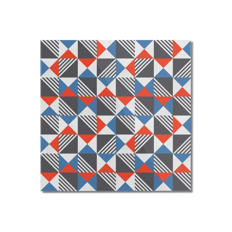 Geometric Triangle Lines Pattern Home Mounted Acrylic Print by Tobe Fonseca's Artist Shop