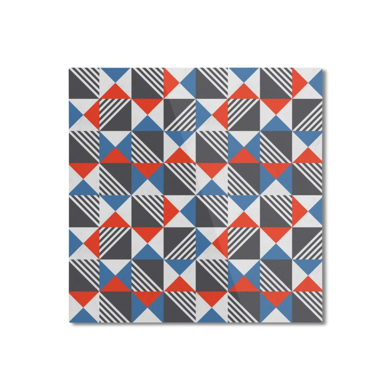 Geometric Triangle Lines Pattern Home Mounted Aluminum Print by Tobe Fonseca's Artist Shop