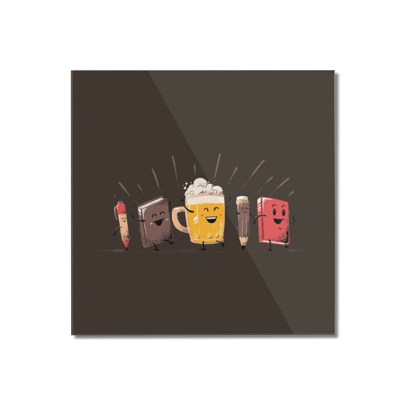 Back To School Beer Home Mounted Acrylic Print by Tobe Fonseca's Artist Shop