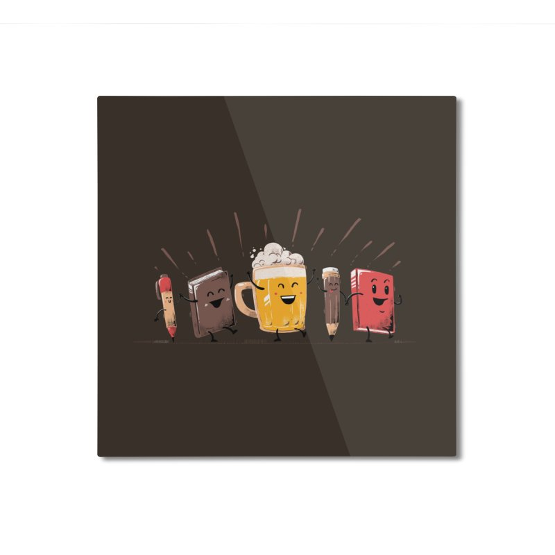 Back To School Beer Home Mounted Aluminum Print by Tobe Fonseca's Artist Shop