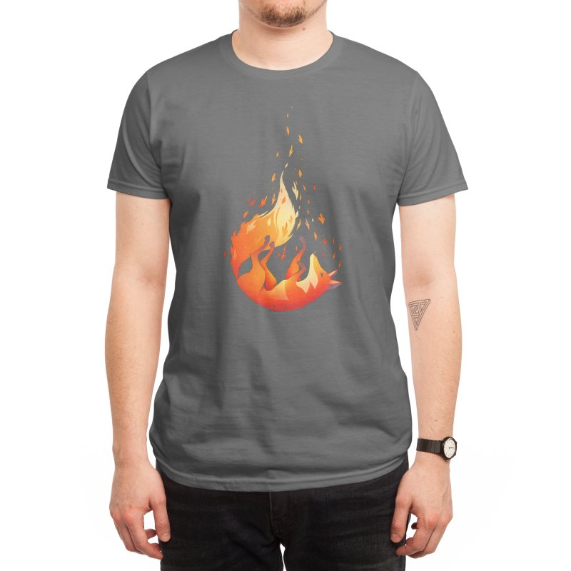 Falling Fox Men's T-Shirt by Tobe Fonseca's Artist Shop