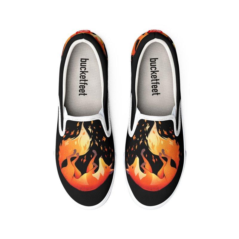 Falling Fox Men's Shoes by Tobe Fonseca's Artist Shop
