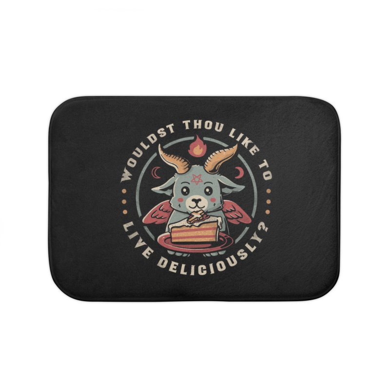 Wouldst Thou Like To Live Deliciously Home Bath Mat by Tobe Fonseca's Artist Shop