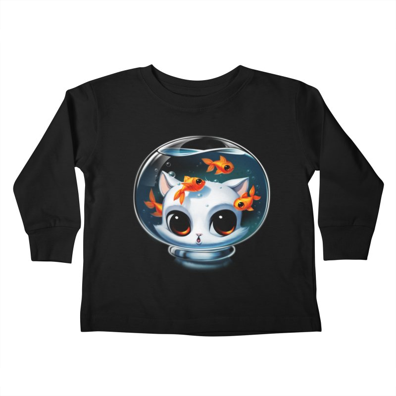 Castronaut Cat Kids Toddler Longsleeve T-Shirt by Tobe Fonseca's Artist Shop