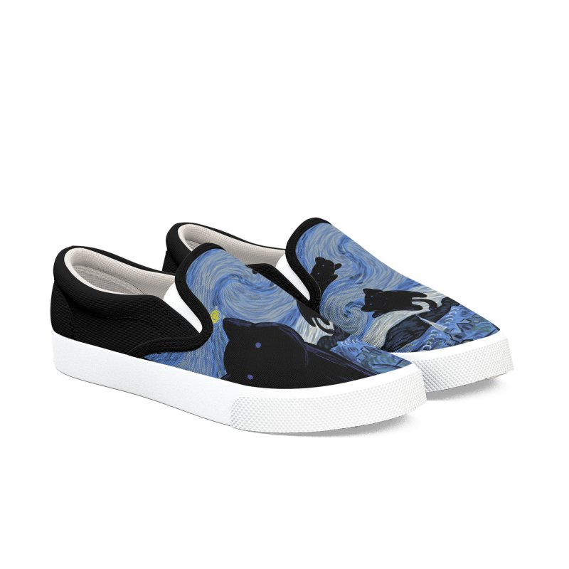 Tha Starry Cat Night Women's Shoes by Tobe Fonseca's Artist Shop