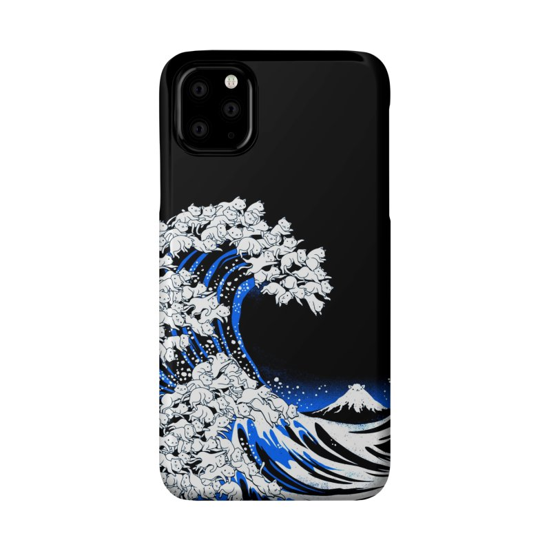 Kanagawa Cat Wave Black Accessories Phone Case by Tobe Fonseca's Artist Shop