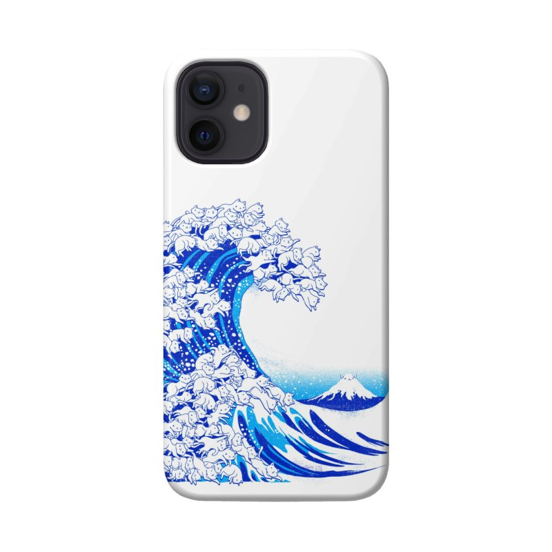 Kanagawa Cat Wave White Accessories Phone Case by Tobe Fonseca's Artist Shop