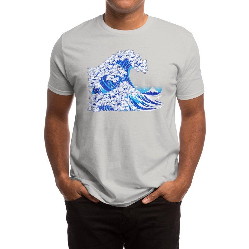 Kanagawa Cat Wave White Men's T-Shirt by Tobe Fonseca's Artist Shop