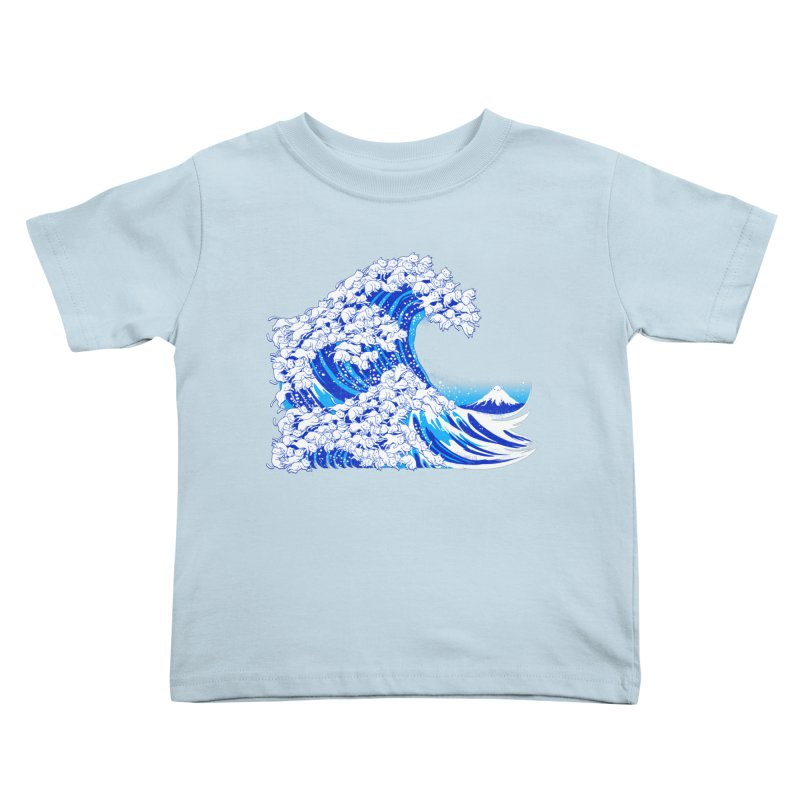 Kanagawa Cat Wave White Kids Toddler T-Shirt by Tobe Fonseca's Artist Shop