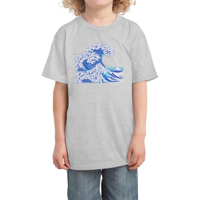 Kanagawa Cat Wave White Kids T-Shirt by Tobe Fonseca's Artist Shop