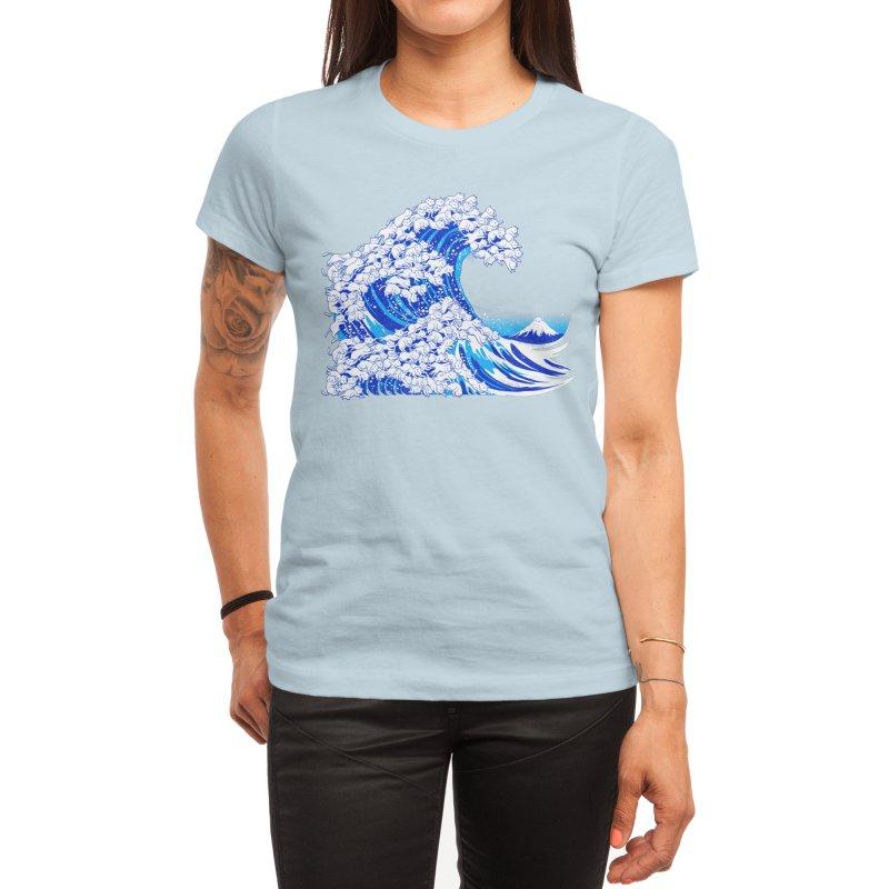 Kanagawa Cat Wave White Women's T-Shirt by Tobe Fonseca's Artist Shop