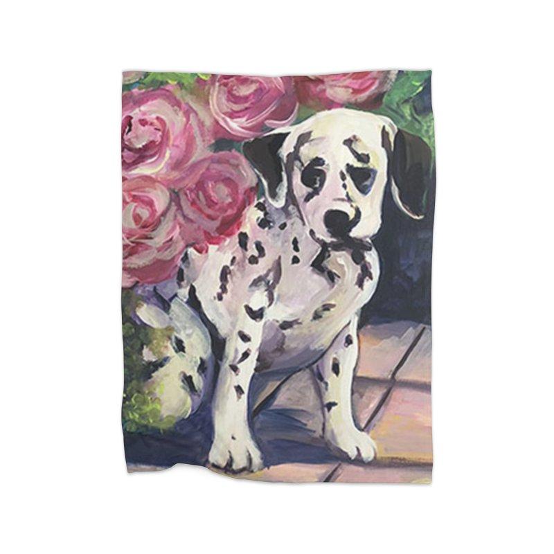 Dalmation Puppy Home Blanket by Tobey Finkel's Artist Shop