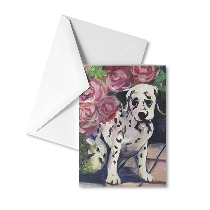 Dalmation Puppy Accessories Greeting Card by Tobey Finkel's Artist Shop