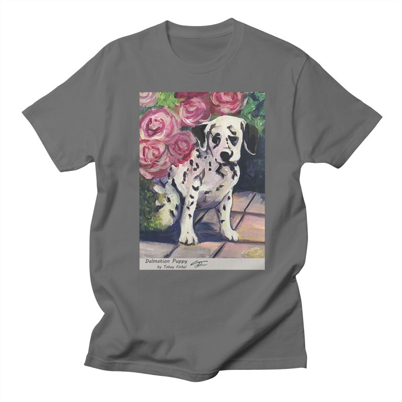 Dalmation Puppy Men's T-Shirt by Tobey Finkel's Artist Shop