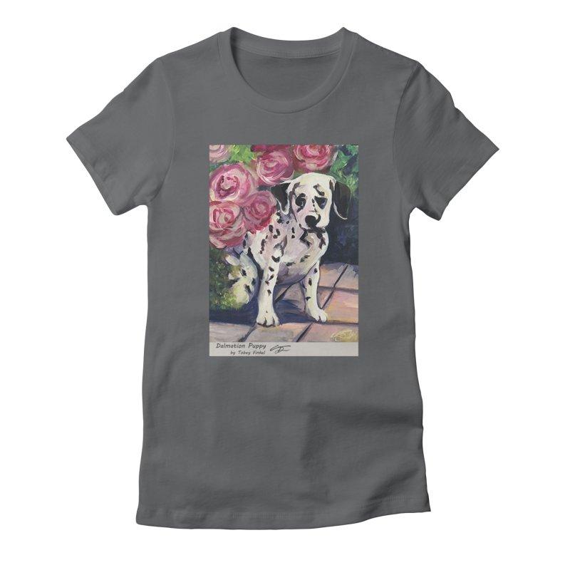 Dalmation Puppy Women's T-Shirt by Tobey Finkel's Artist Shop