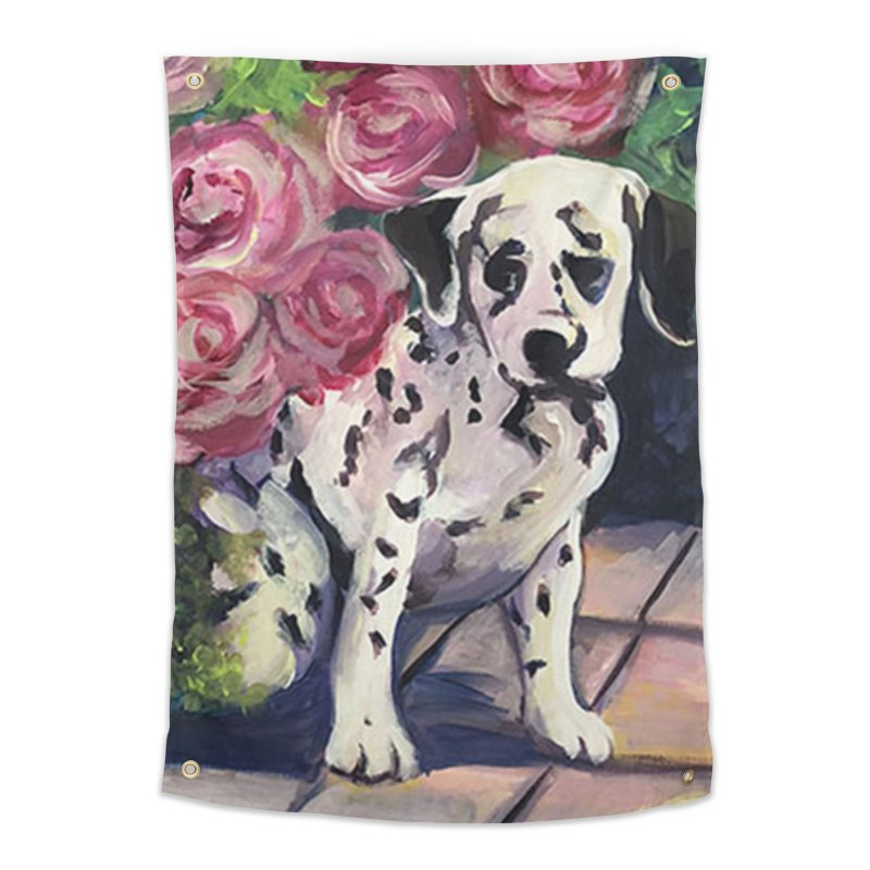 Dalmation Puppy Home Tapestry by Tobey Finkel's Artist Shop