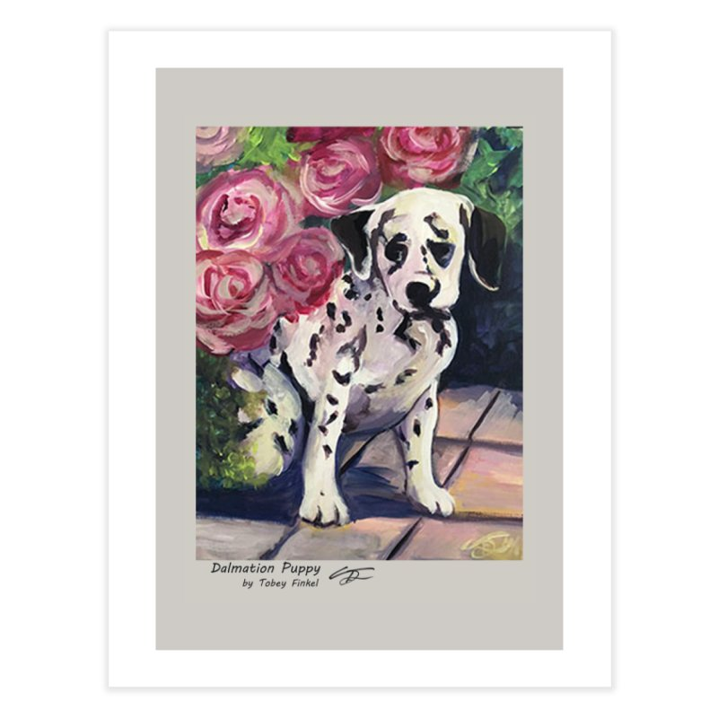 Dalmation Puppy Home Fine Art Print by Tobey Finkel's Artist Shop