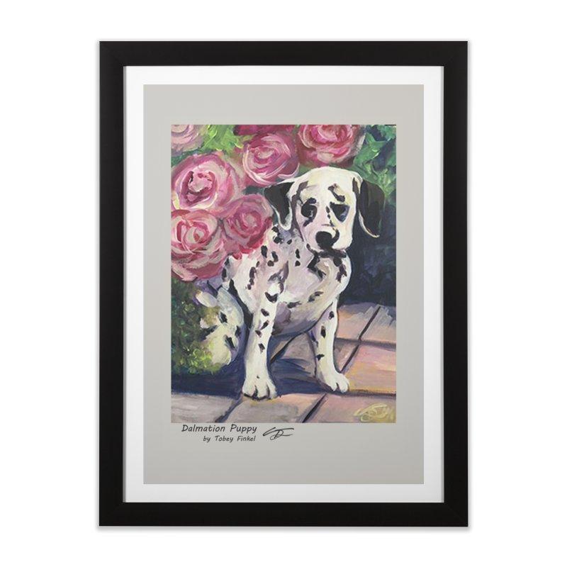 Dalmation Puppy Home Framed Fine Art Print by Tobey Finkel's Artist Shop