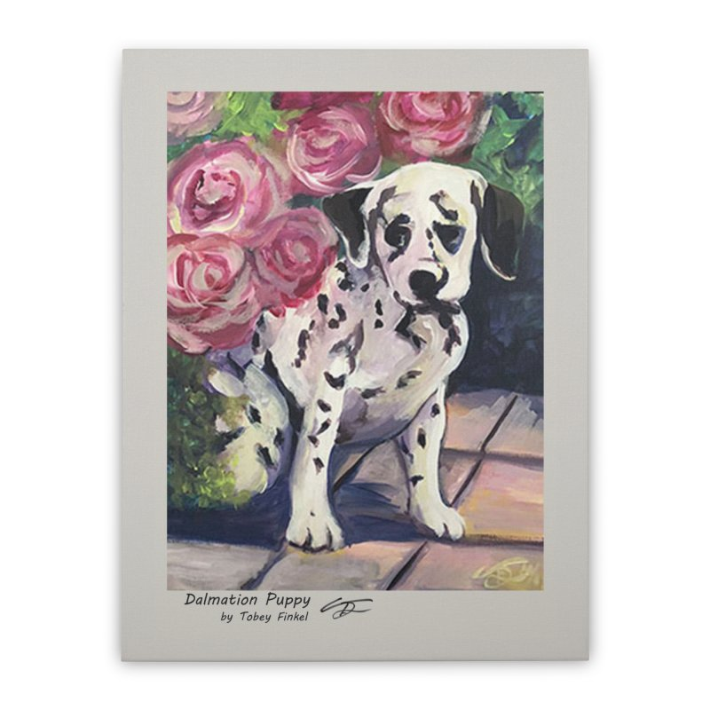 Dalmation Puppy Home Stretched Canvas by Tobey Finkel's Artist Shop