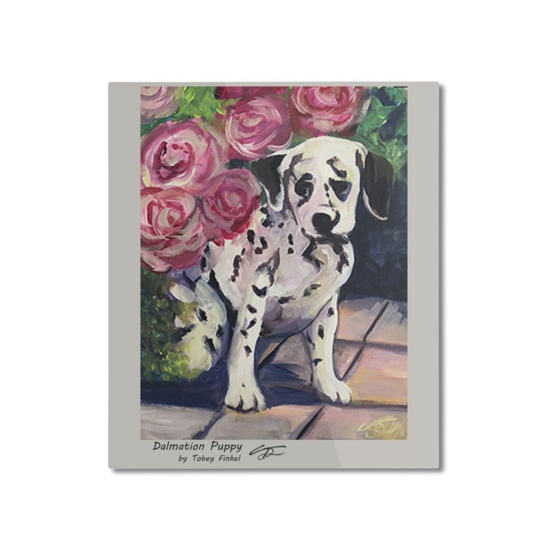 Dalmation Puppy Home Mounted Aluminum Print by Tobey Finkel's Artist Shop
