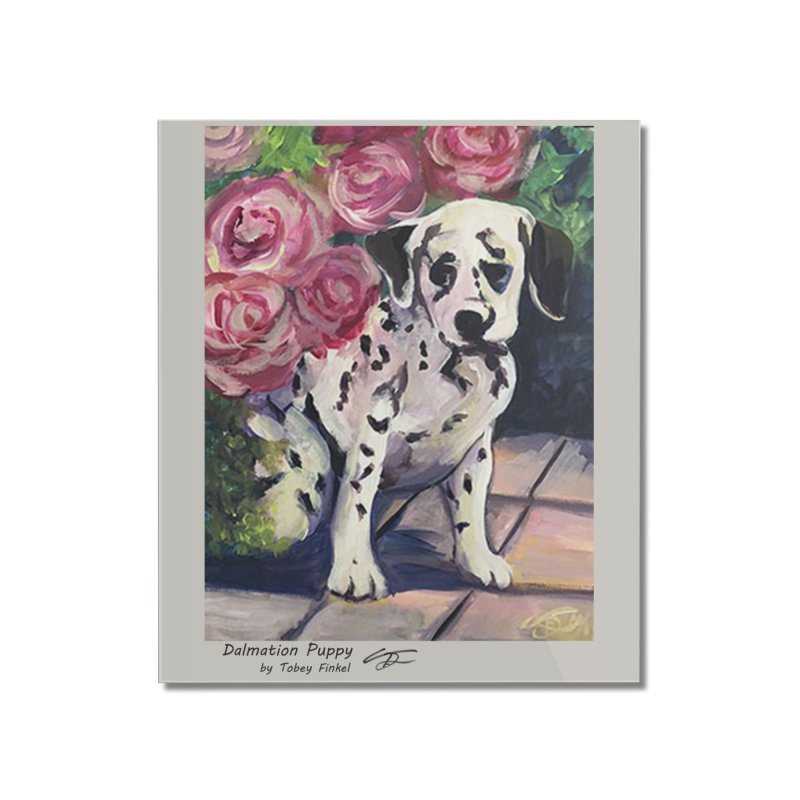 Dalmation Puppy Home Mounted Acrylic Print by Tobey Finkel's Artist Shop