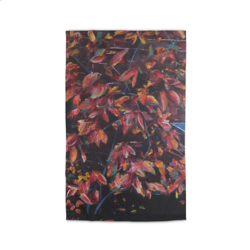 Red Fall Home Rug by Tobey Finkel's Artist Shop