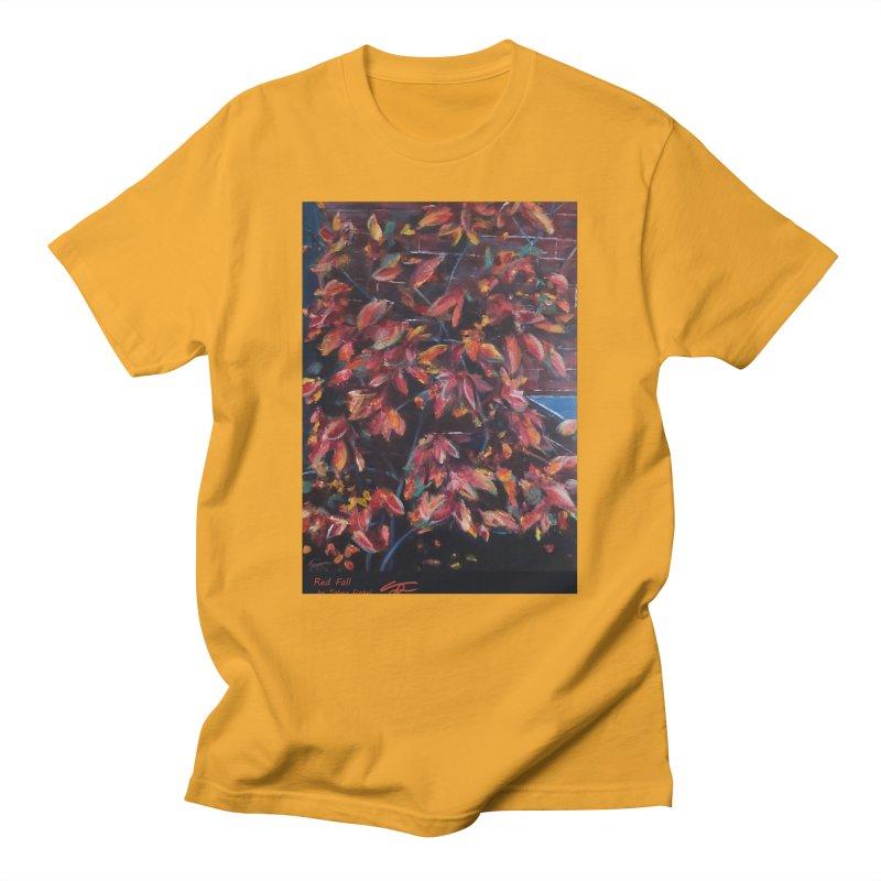 Red Fall Men's T-Shirt by Tobey Finkel's Artist Shop
