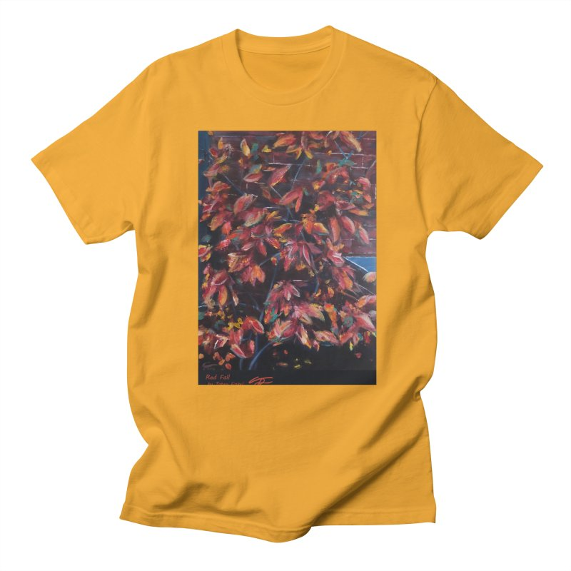 Red Fall Men's T-Shirt by Tobey Finkel's Artist Shop