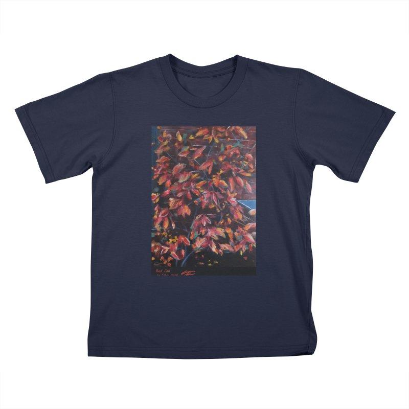 Red Fall Kids T-Shirt by Tobey Finkel's Artist Shop