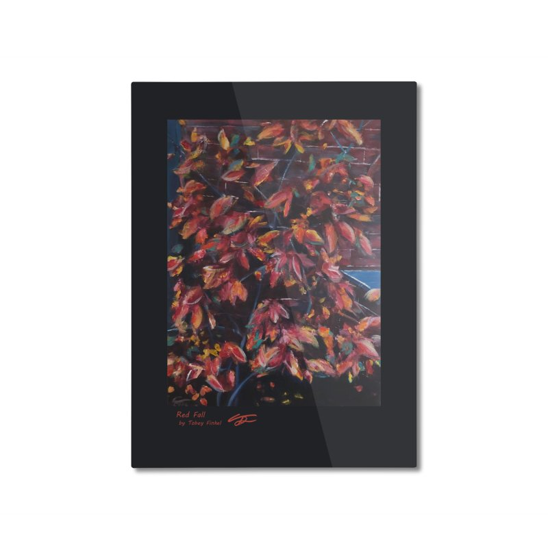 Red Fall Home Mounted Aluminum Print by Tobey Finkel's Artist Shop